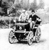 Panhard & Levassor with a Daimler-Phoenix engine, Paris–Bordeaux–Paris race from 11 to 14 June 1895.